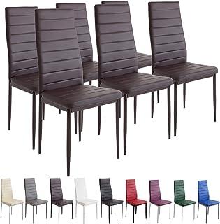 comprar comparacion Albatros 2701 Milano Set de 6 sillas de Comedor, marrón