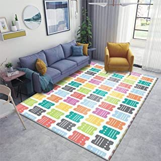 Home Area Runner Rug Pad Tickets Access Pass Coupon Seamless Thickened Non Slip Mats Doormat Entry Rug Floor Carpet for Living Room Indoor Outdoor Throw Rugs