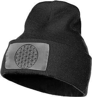 Flower of Life Sacred Geometry Beanie Hat Men's Women's Plain Cuff Cap Headwear Slouchy Beanie