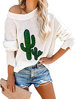 GOLDSTITCH Women's Sweaters Oversized Batwing Pullover Loose Off The Shoulder Knit Jumper - Ivory - Large
