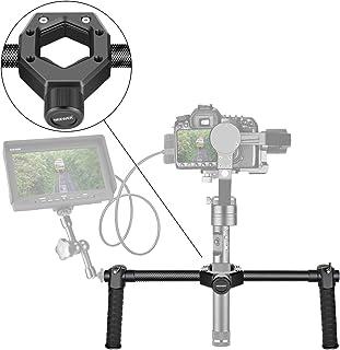 Neewer Carbon Fiber Dual Handle Grip Holder-Diameter-Adjustable 25-45mm for Zhiyun Crane 2/Crane V2/Crane Plus/Crane/Crane...