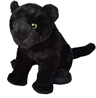 Wild Republic Black Jaguar Plush, Stuffed Animal, Plush Toy, Gifts for Kids, Cuddlekins 12