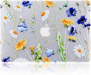 iDonzon MacBook Air 13 inch Case (A1466 A1369, 2010-2017 Release), 3D Effect Matte Clear See Through Hard Cover Only Compatible Older Version Mac Air 13.3 inch - Floral Pattern