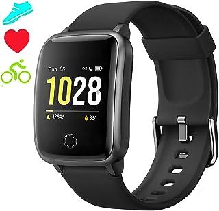 Smartwatch Reloj Inteligente Pulsómetro Mujer Hombre Niños, Pulsera de Actividad Inteligente GPS Monitor de Sueño Impermeable IP68 Caloría Podómetro, Fitness Reloj Deportivo Cronómetro Android iOS
