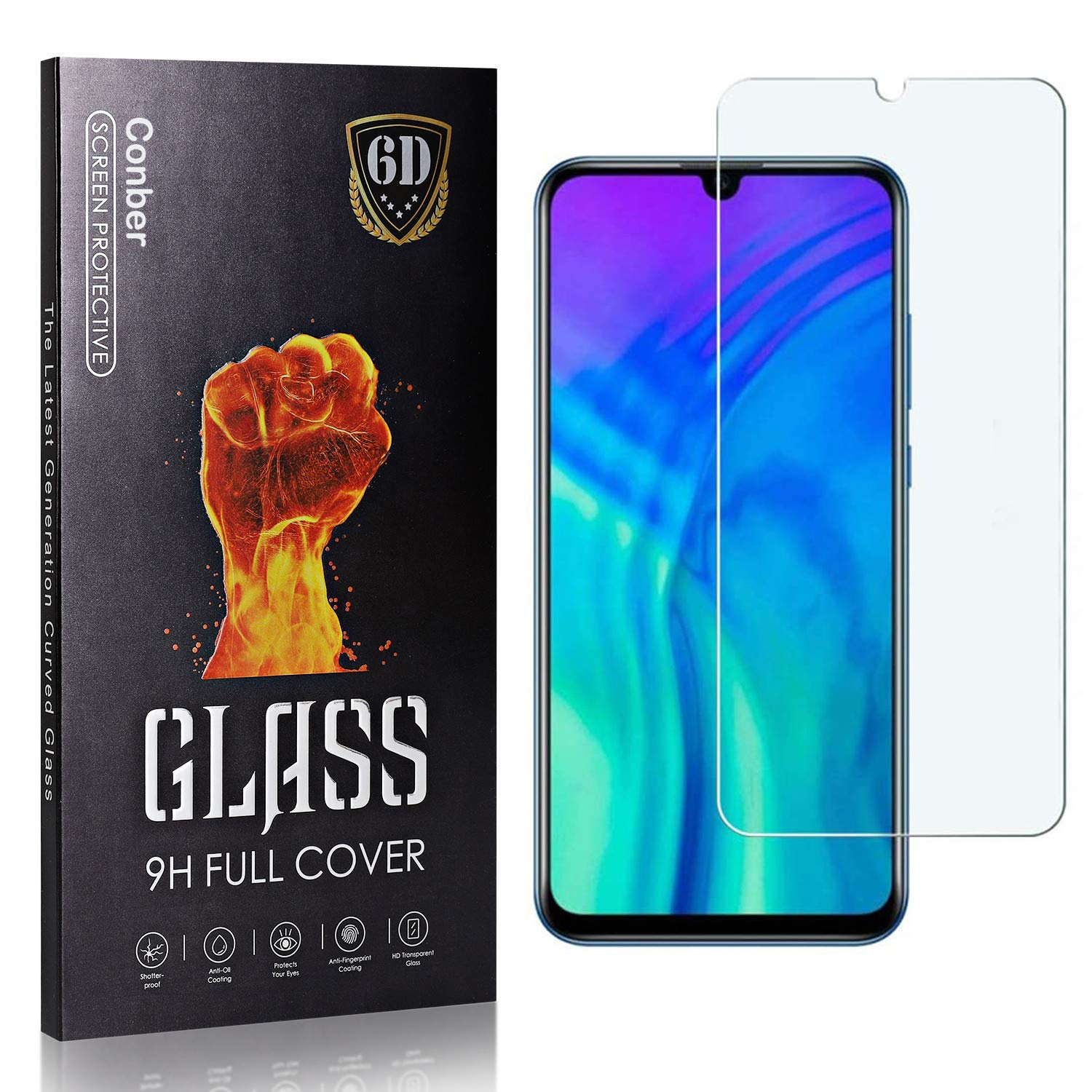 Conber 1 Pack Screen Protector for Honor Lite Under Max 84% OFF blast sales 20 Tempe Huawei