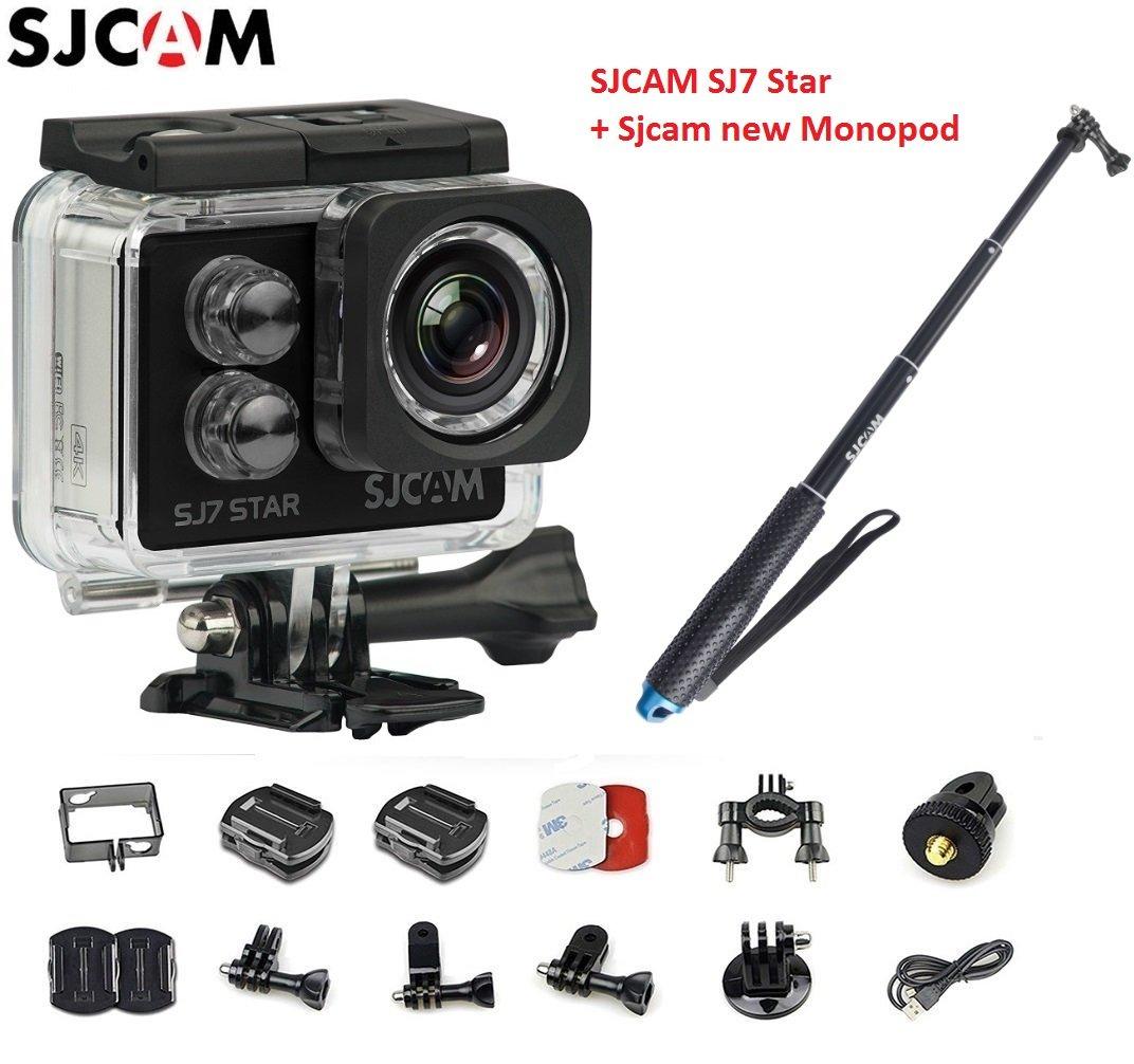 オリジナルSJCAM SJ7スターWiFi 4K 30FPS 2フィートタッチスクリーンリモートアクションヘルメットスポーツDVカメラ防水Ambarella A12S75チップセット+ SJCAM一脚