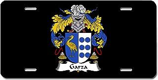 Carpe Diem Designs Garza Coat of Arms/Garza Family Crest License/Vanity Plate – Made in The U.S.A