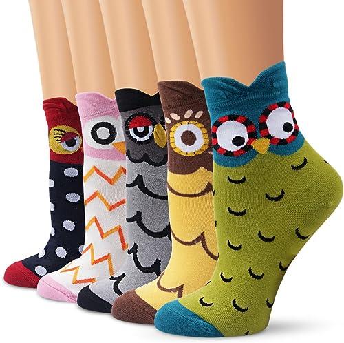 10 o 20 paia di calze da donna /& ragazza calzini cotone con elastan colorati punti