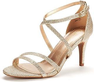 03cbe5412d47 DREAM PAIRS Women s Fashion Stilettos Open Toe Pump Heeled Sandals
