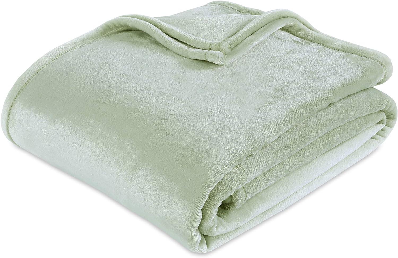 Berkshire Blanket VelvetLoft Ultra Soft Luxury Plush Blanket, Tea Green, Full/Queen
