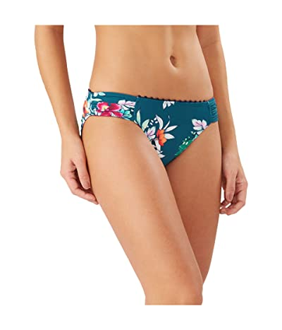 Tommy Bahama Floral Springs Reversible Side Shirred Hipster (Caledon Sea) Women