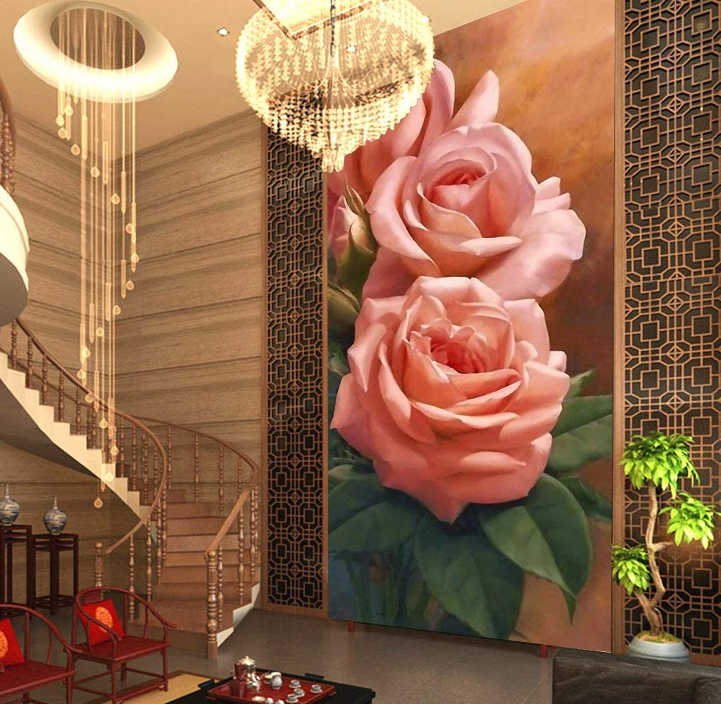 AJ WALLPAPER Free Shipping New 3D Pink Sale Special Price Rose WG159 Wall Paper Decal Print Deco