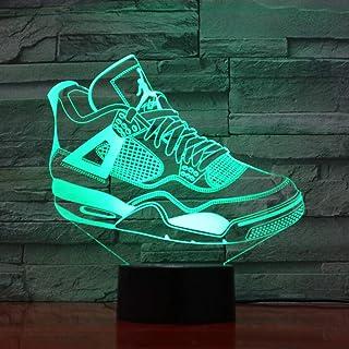 Regalo de Navidad de Año Nuevo Zapatillas de deporte USB Lámpara de mesa 3D Regalo Luz de sueño para niños Luz de noche LED Navidad portátil