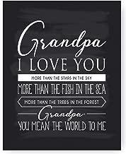 Grandpa Gift, Grandpa Quote Sign Chalkboard Print, Grandpa Quotes - Unique Gift for Grandpa & Best Grandpa Gift - Beautiful Typography Artwork -