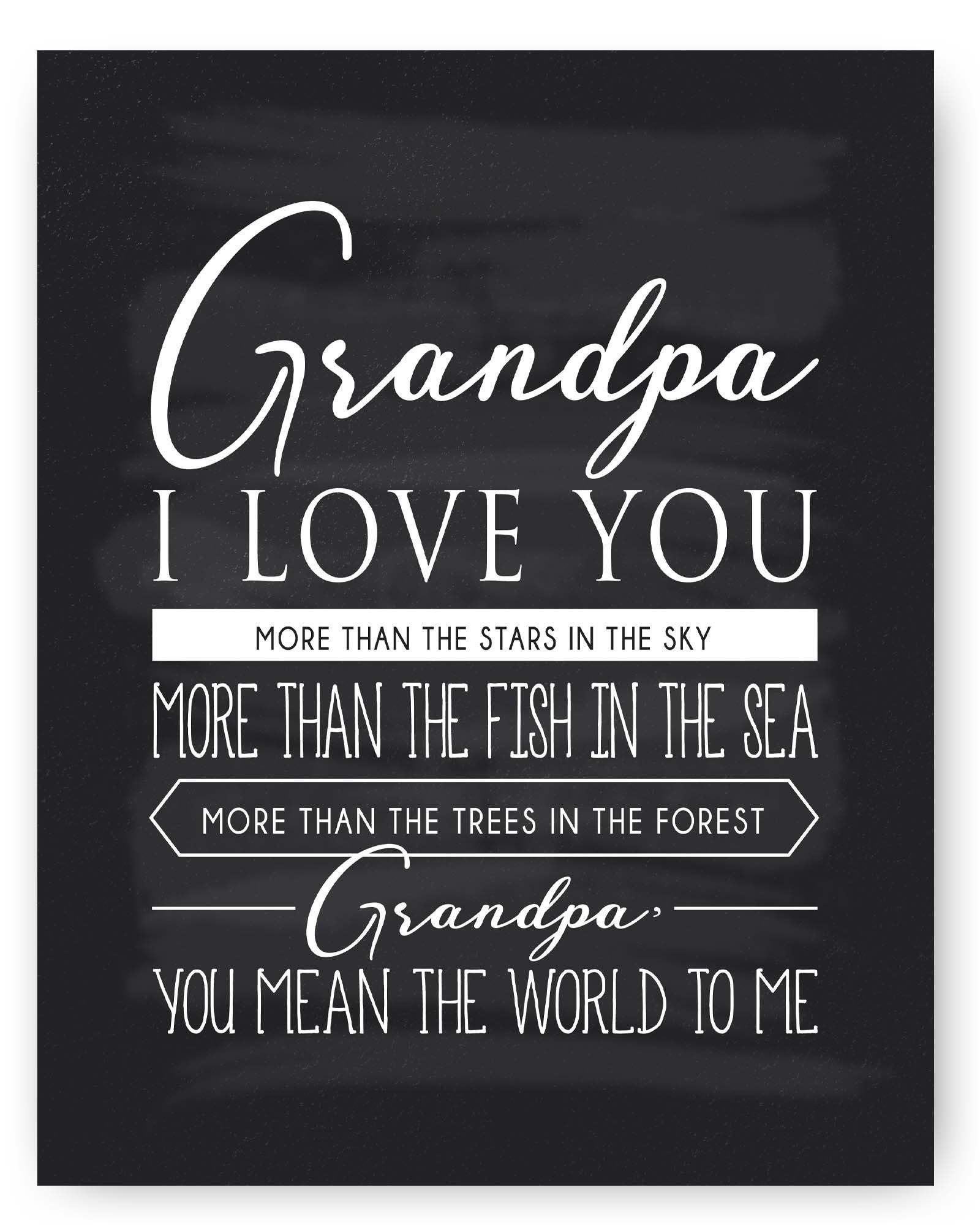 Grandpa Gift Grandpa Quote Sign Chalkboard Print Grandpa Quotes - Unique Gift for Grandpa  sc 1 st  Amazon.com & Unique Gifts for Grandpa: Amazon.com
