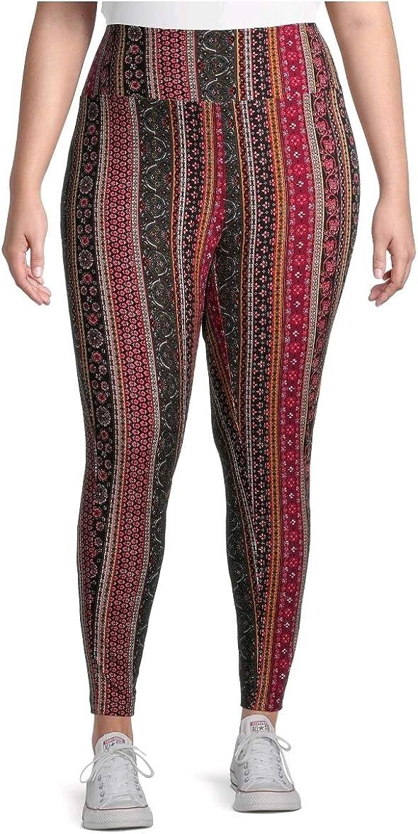 Terra Sky Boho Cheap mail order shopping Stripe Super Soft Full Legging Length Size Plus Max 44% OFF
