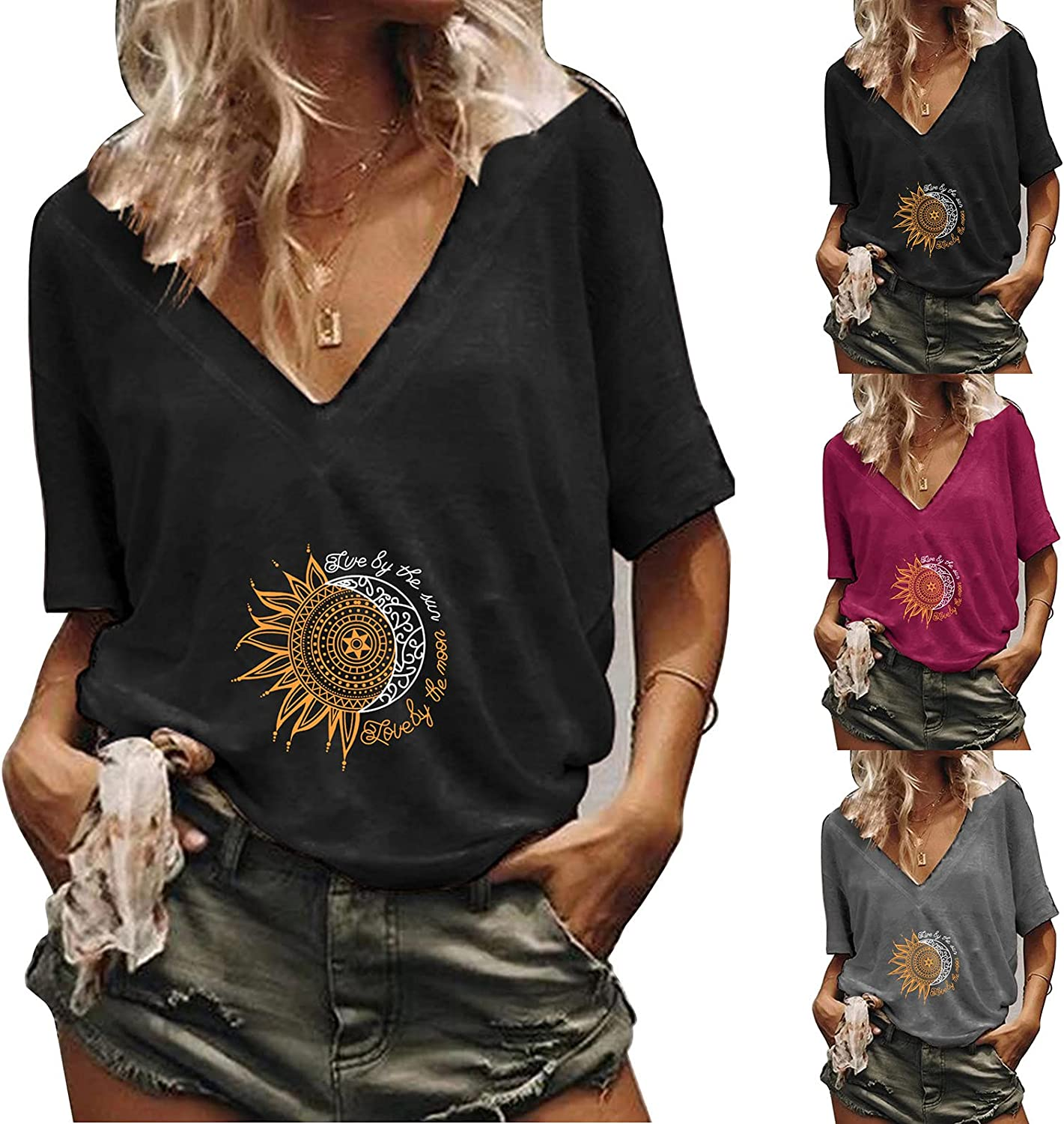 Flurries Plus Size Tops for Women Fashion Shirt V-Neck Soft Casual Top Summer Sexy Womens Tunic Vest Sleeveless