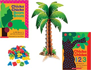 Chicka Chicka Boom Boom and Chicka Chicka 1 2 3 by Bill Martin Jr and Activity Gift Set Includes Alphabet , Numbers , Coconut Tree