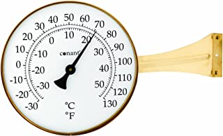 Conant T10LFB Vermont Dial Thermometer, Large, Living Finish Brass