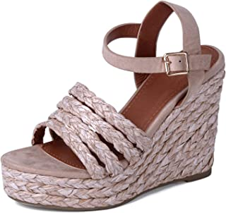 EMERCLY Women's Espadrille Braided Wedge Casual Sandal