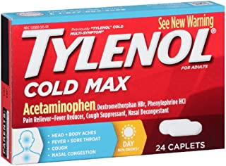 Tylenol Cold Multi-Symptom Relief Caplets, 24 Count (Pack of 6)