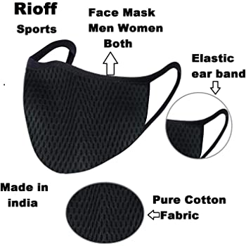 Rioff Face mask half for men women everyday use (1)