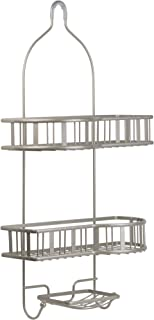 Richards Homewares 3-Tier Shower Bathtub Caddy for Over the Showerhead - No Assembly Required – Rustproof - Elegant Satin Nickel Finish – Bathroom Accessory