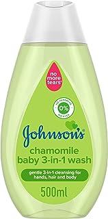 JOHNSON'S Baby Body Wash 3-in-1, Chamomile, 500ml