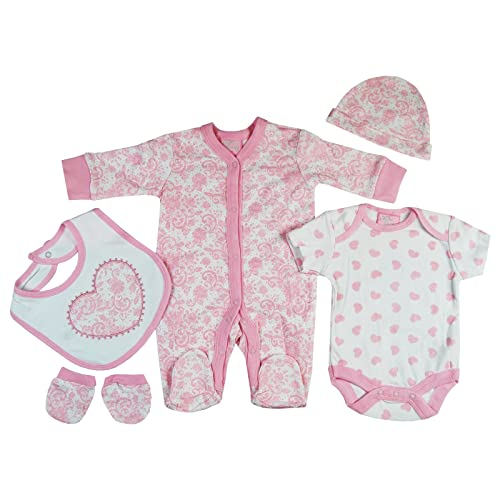 633e984aa Unisex Presents Gifts For Newborn Baby Boys Girls Toddler Unisex Cute  Clothing Sets Sleepsuit Vest Bib