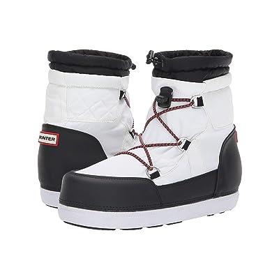 Hunter Original Short Quilted Snow Boots (White/Black) Women