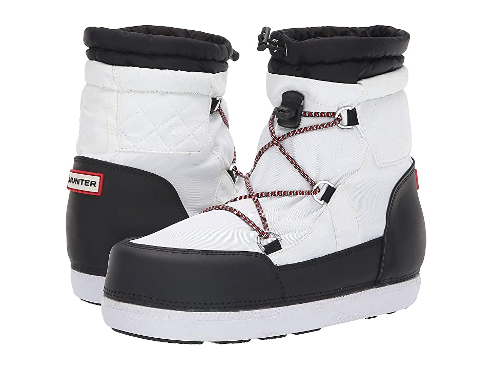 Hunter Original Short Quilted Snow Boots (White/Black) Women