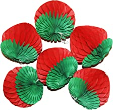 LG-Free 6pcs 6 inch Art Honeycomb Strawberry Balls Tissue Paper Strawberry Decorations Paper Flower Balls Hanging Wall Decoration Party Wedding Birthday Baby Shower Home Decora (6'' Strawberry)