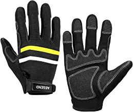 Aegend Reinforce Double-Stitched Work Gloves, Safety Utility Gloves Mechanics Gloves for Heavy Duty, Excellent Grip, Frict...
