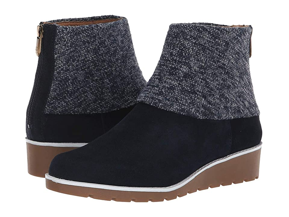 Adrienne Vittadini Tevin (Navy Silky Cow Suede) Women