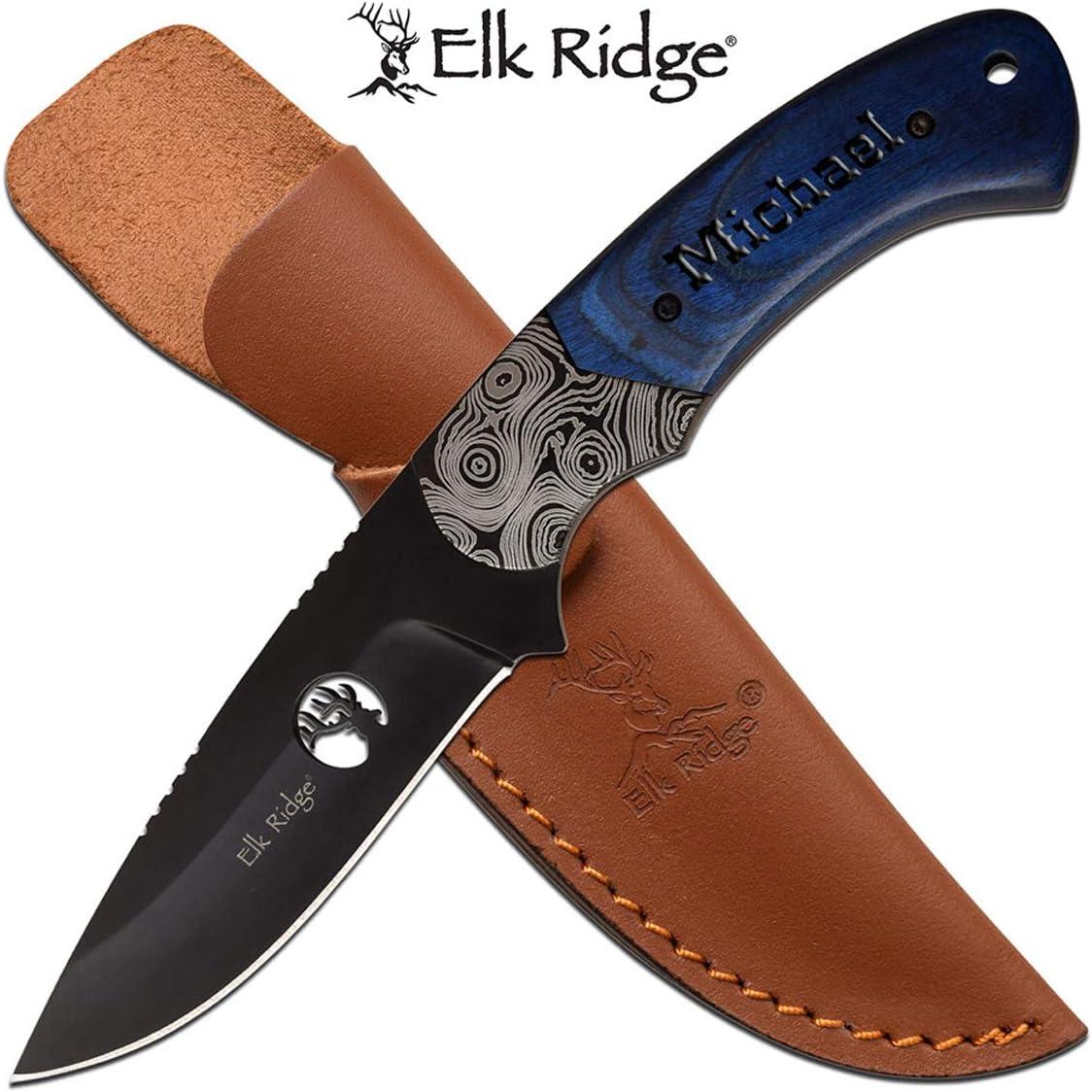 Elk Ridge Free Engraving - Quality Pocket Knife (ER-200-09BL)