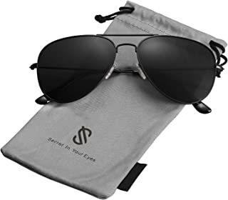 SOJOS Classic Aviator Polarized Sunglasses for Men Women Vintage Retro Style SJ1054