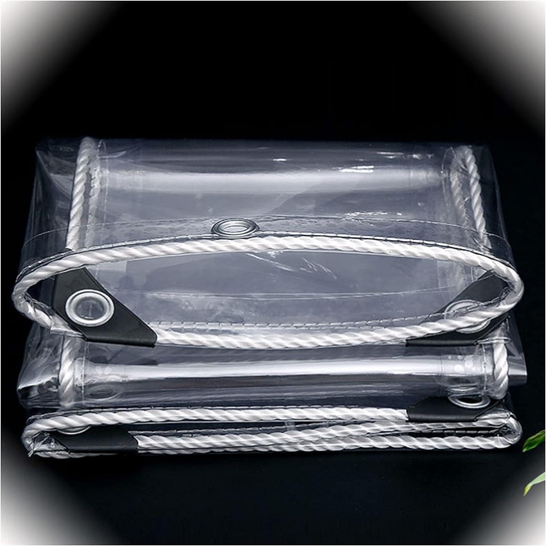 AWSAD Transparent Tarpaulin Cheap mail order shopping Waterproof PVC with Tarp Win Ranking TOP16 Eyelets