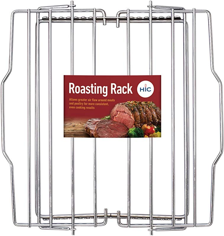HIC Harold Import Co 43182 HIC Adjustable Wire Roasting Baking Broiling Rack 10 X 9 1 4 Inch