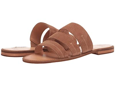 FRYE AND CO. Evie 3 Band Slide (Pecan Suede) Women