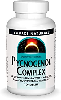 Source Naturals Pycnogenol Complex - Antioxidant Formula Rich in Flavonoids, Proanthocyanidins & Vitamin C - 120 Tablets