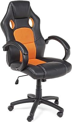 sillón de oficina con ruedas y con Reposabrazos. Asiento y Respaldo ACOLCHADOS con revestimiento de