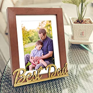 Art Street Best Dad Customize Table Photo Frame for Father's Day(Photo Size 6X8 Inchs) Photo Gift/Birthday Gift/Christmas ...