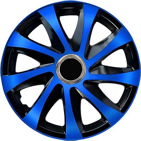 Eight Tec Handelsagentur Bundle Farbe Größe Wählbar 14 Zoll Radkappen Radblenden Ats002 Bicolor Schwarz Blau Passend Für Fast Alle Fahrzeugtypen Universal Auto