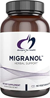 Designs for Health Migranol - Feverfew Supplement with Magnesium Malate, Curcumin (Turmeric) Extract, Rosemary + B2 Ribofl...