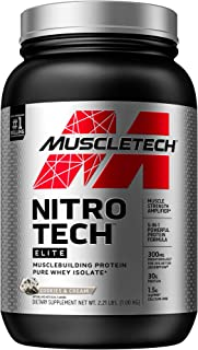 Whey Protein Isolate + Creatine Monohydrate | MuscleTech Nitro-Tech Elite | Whey Isolate Protein Powder | Protein Shakes f...