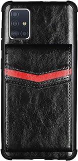 جراب محفظة EnjoyCase لهاتف Samsung Galaxy A51، حامل بطاقات ريترو من جلد البولي يوريثان وغطاء ممتص للصدمات خلفي من الصدمات ...