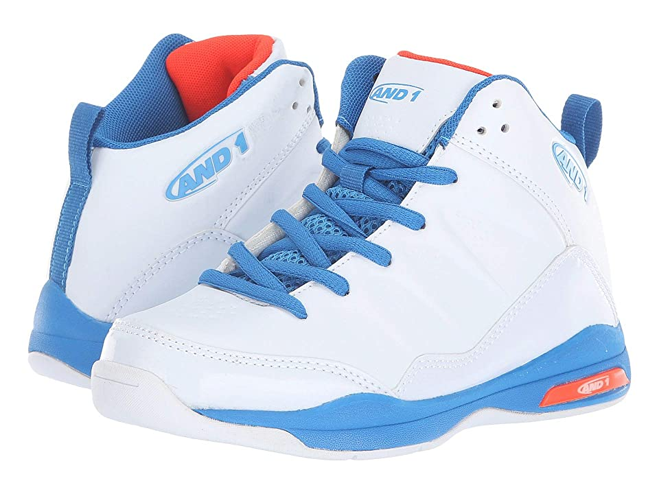 AND1 Kids Breakout (Little Kid/Big Kid) (White/Skydiver/Flame) Boys Shoes