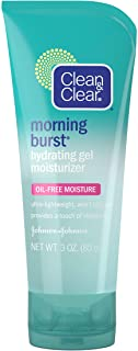 Clean & Clear Morning Burst Hydrating Gel Face Moisturizer with Cucumber & Green Mango Extract, Oil-Free Daily Facial Mois...