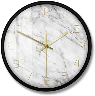 Ashley Furniture Signature Design Jazmin Wall Clock Contemporary Gray Gold Finish Home Kitchen