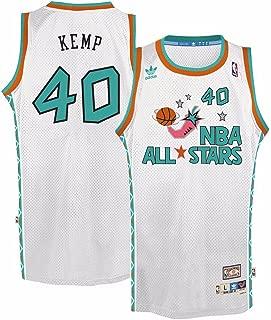 adidas Shawn Kemp West All Stars NBA White 1995-96 Soul Swingman Throwback Jersey for Men